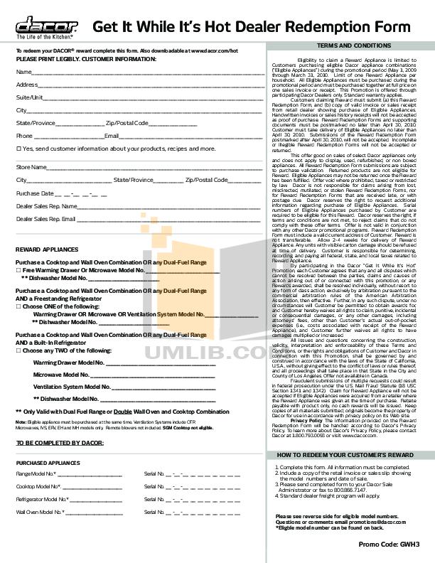pdf for Dacor Refrigerator Epicure EF42DBSS manual
