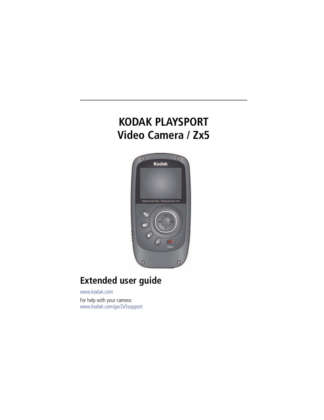 pdf for Kodak Camcorders PlaySport manual