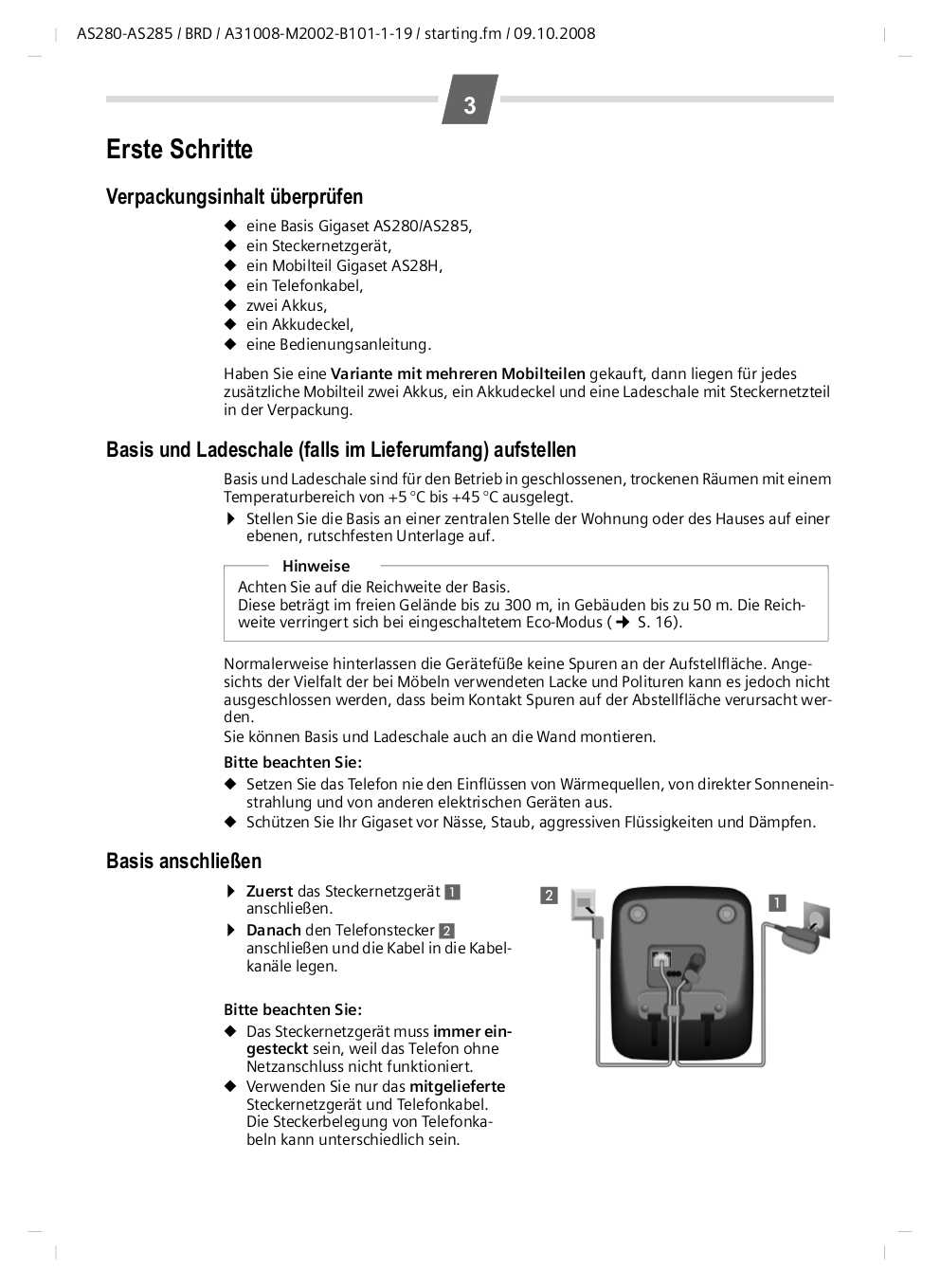 PDF manual for Siemens Telephone Gigaset C285-2