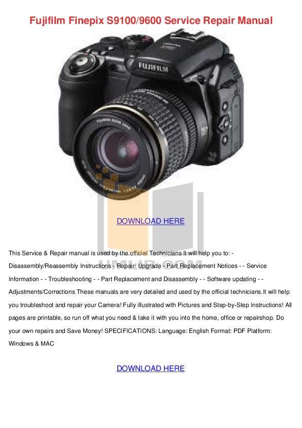 fujifilm finepix s5000 service repair manual