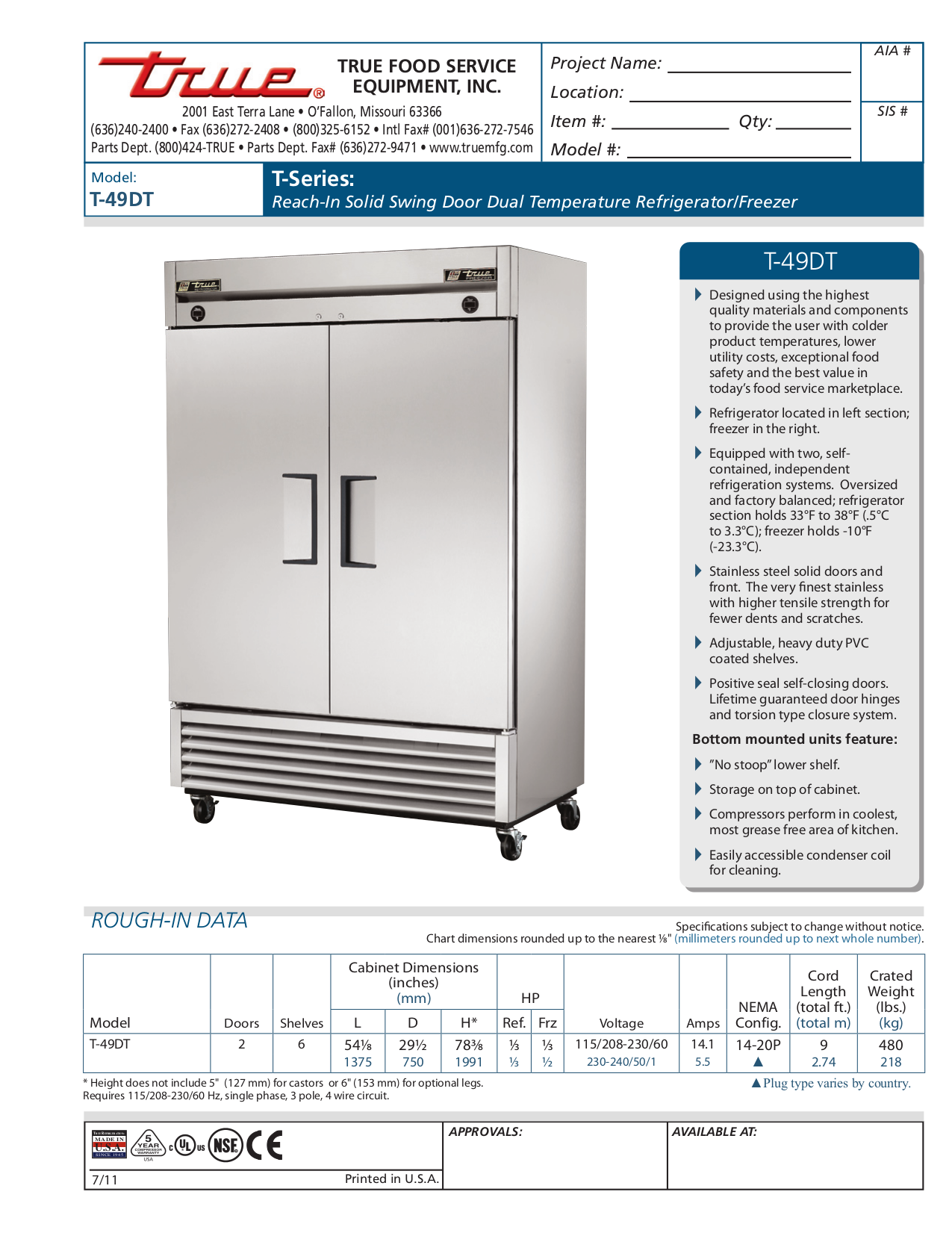 True T49dt Wiring Diagram Detailed Diagrams Freezer T 49f User Guide Manual Download Free Pdf For 49dt Refrigerator