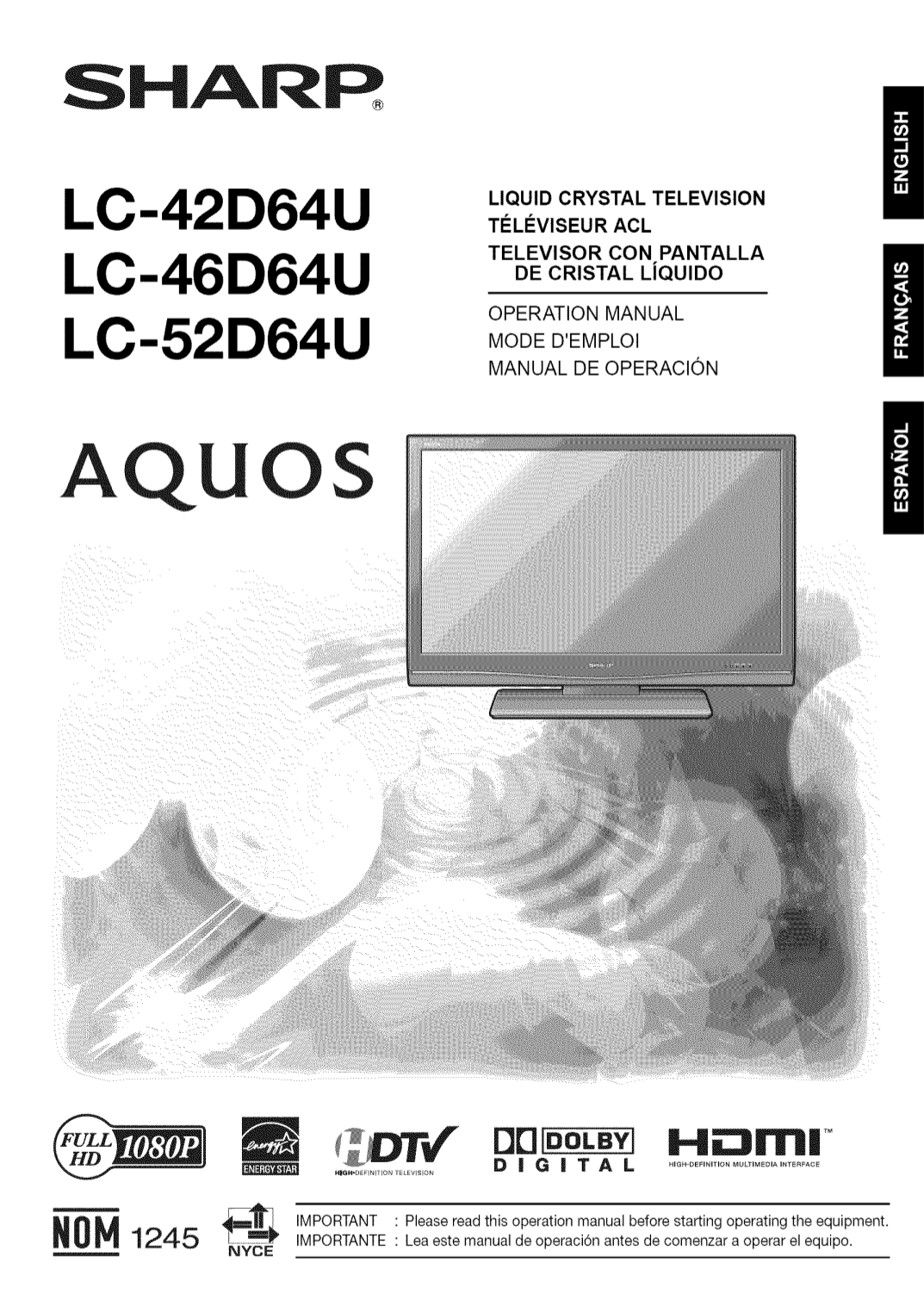 download free pdf for sharp aquos lc 46d64u tv manual rh umlib com sharp aquos lc46d64u manual Sharp AQUOS Troubleshoot