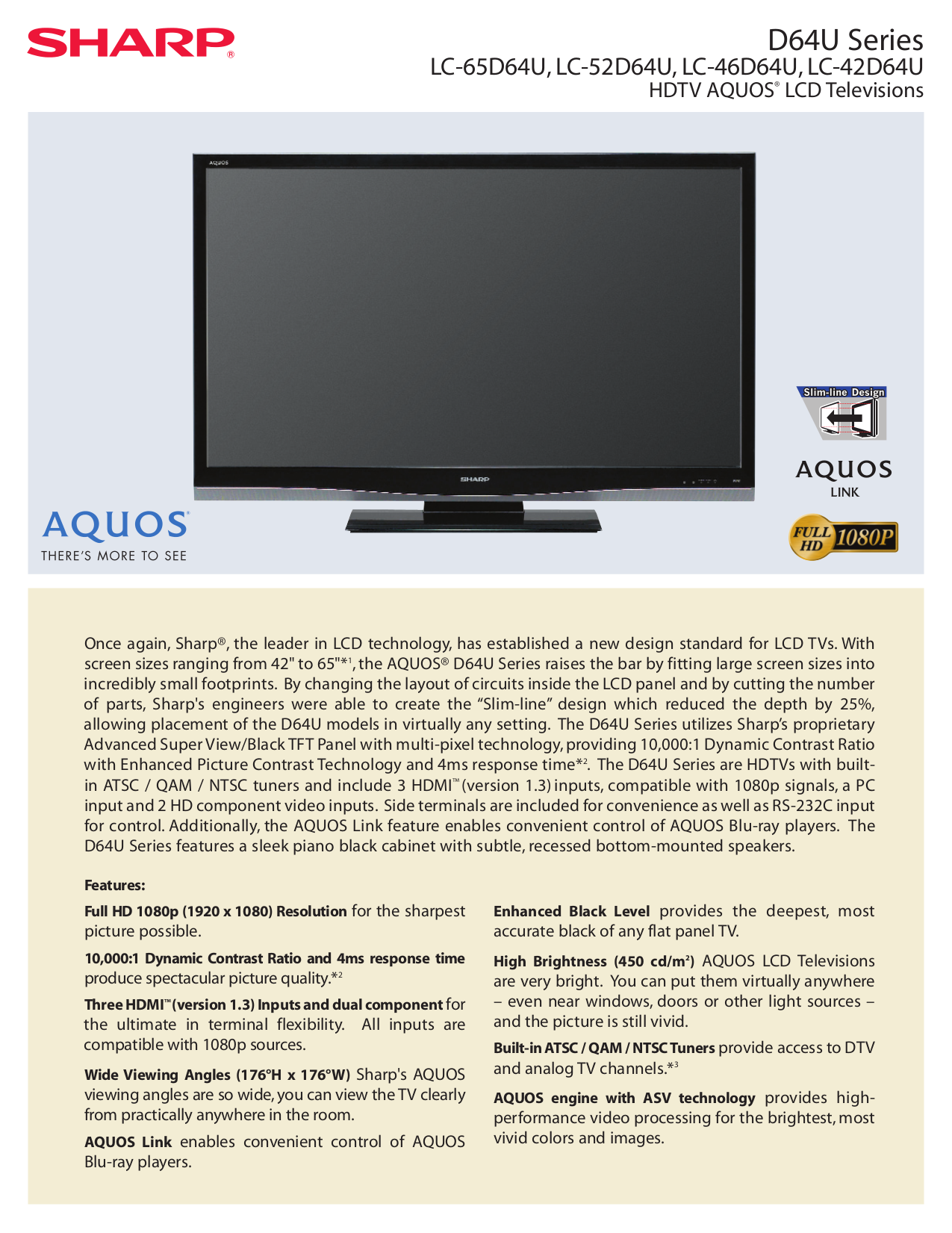 download free pdf for sharp aquos lc 46d64u tv manual rh umlib com Reset Sharp AQUOS HDTV Sharp AQUOS 60 Inch TV
