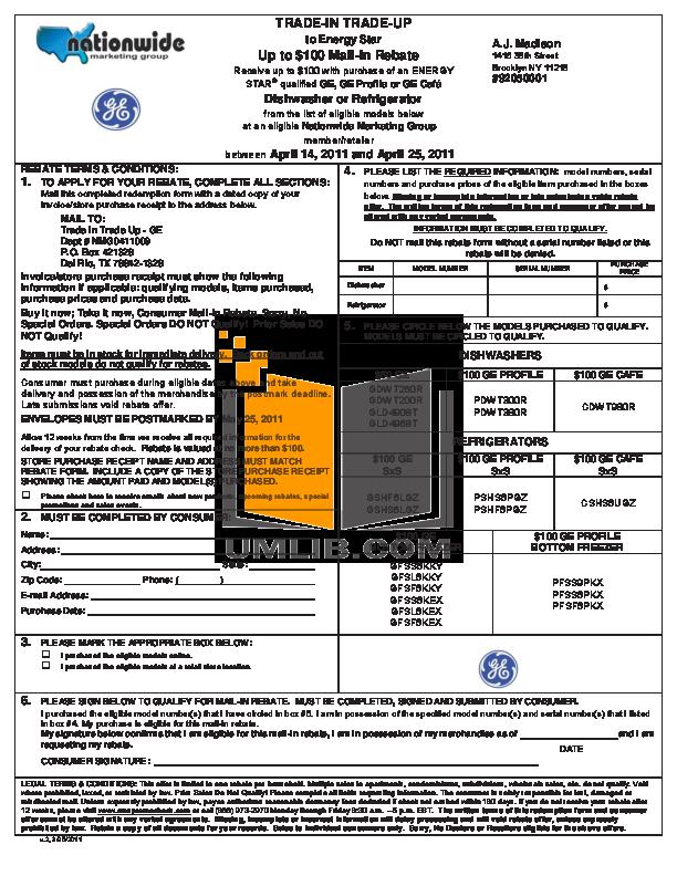 pdf for GE Dishwasher GLD4908T manual
