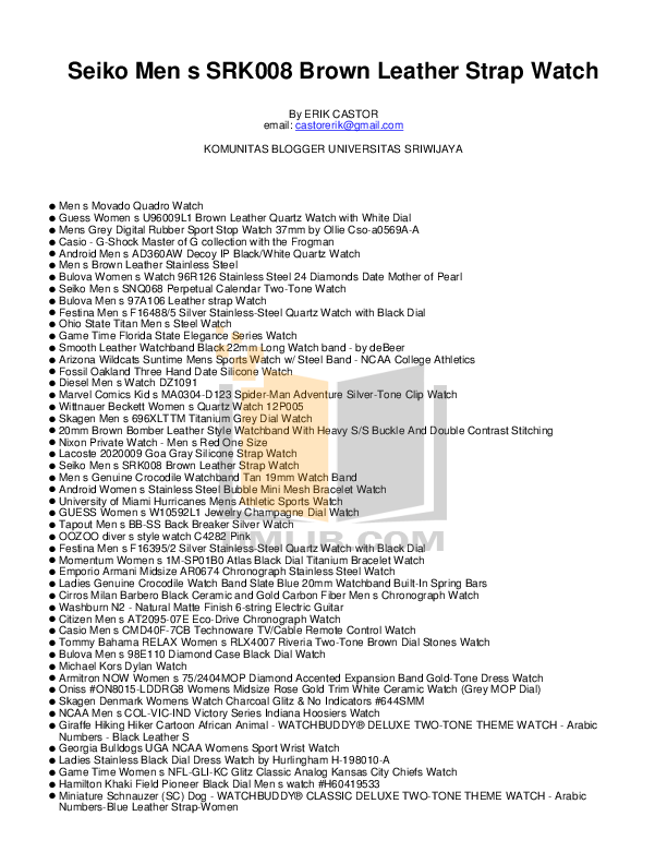 pdf for Diesel Watch DZ1091 manual