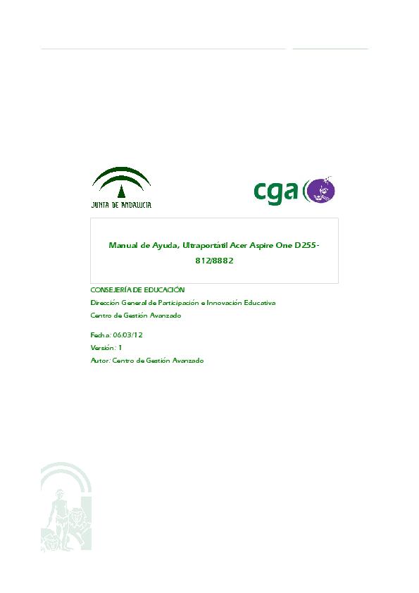 pdf for Acer Desktop Aspire ONE D255 manual