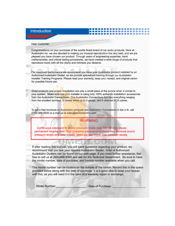 pdf manual for audiobahn car receiver a3351 rh umlib com 10 Inch Audiobahn Subwoofers Audiobahn A2150hct