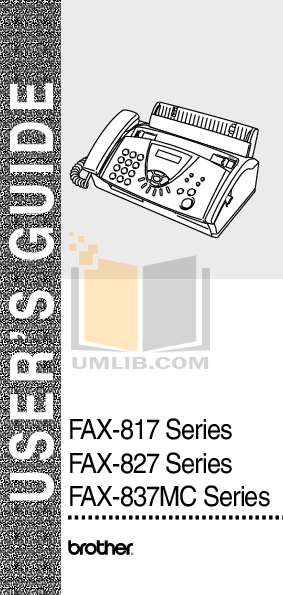 pdf for Brother Fax Machine FAX-220 manual