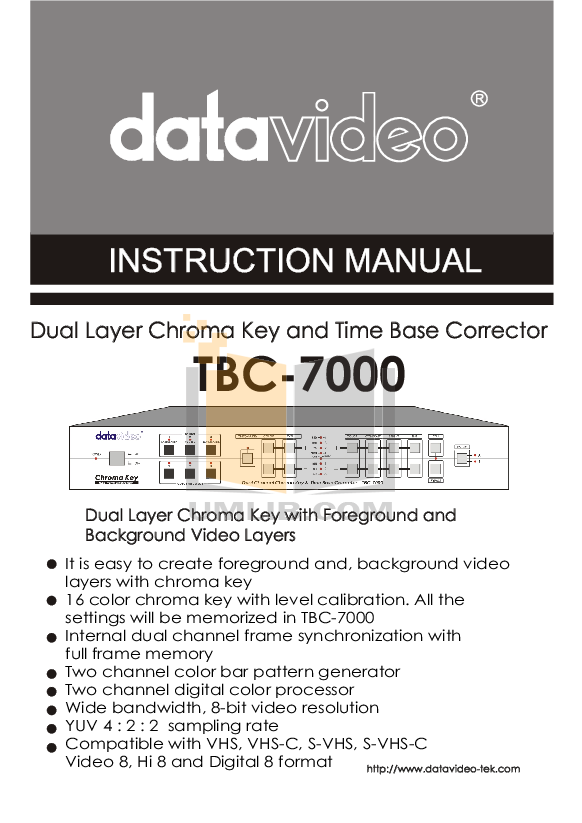 pdf for Datavideo Other TBC-7000 Time Base Correctors manual
