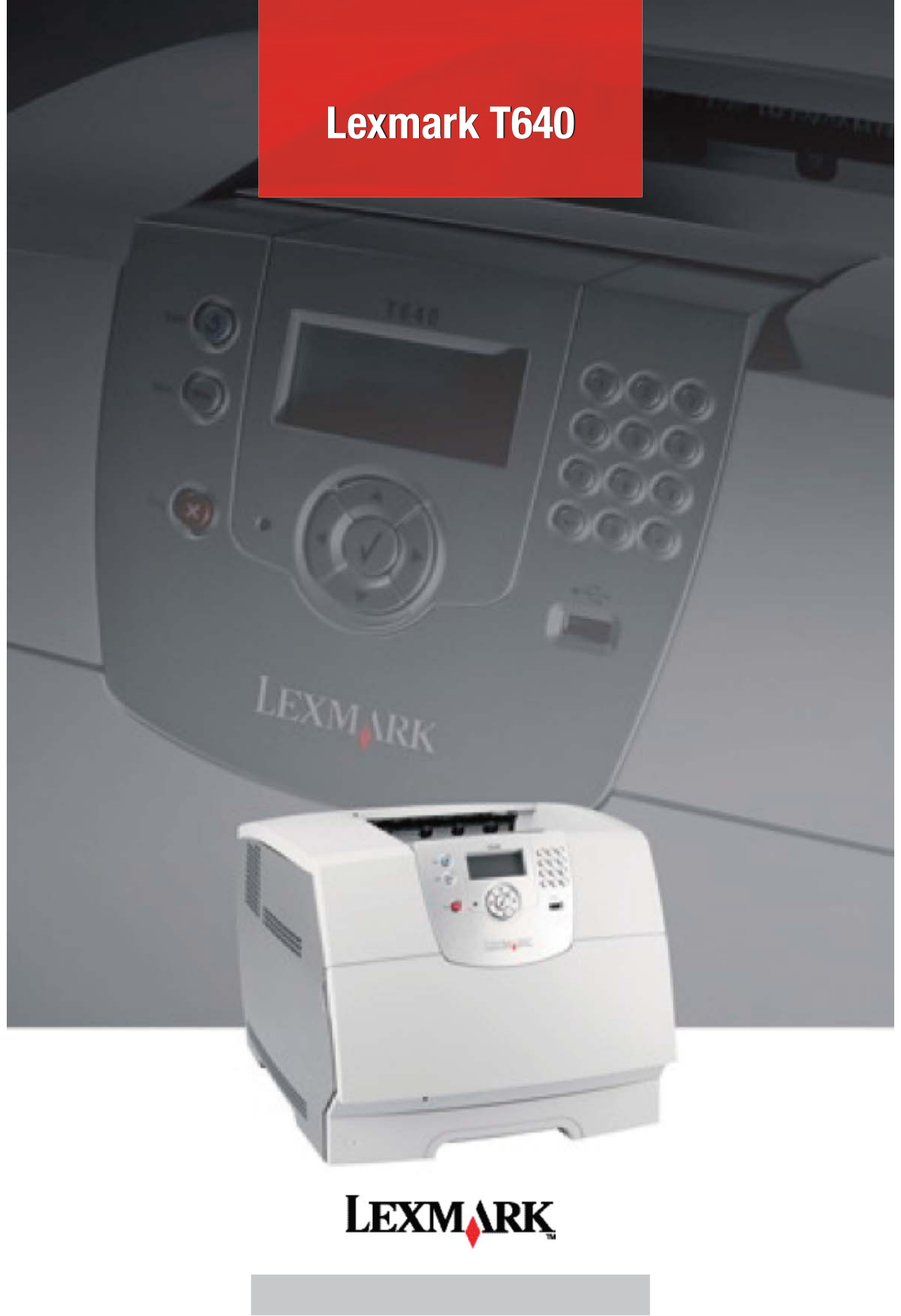 pdf for Lexmark Printer T640tn manual