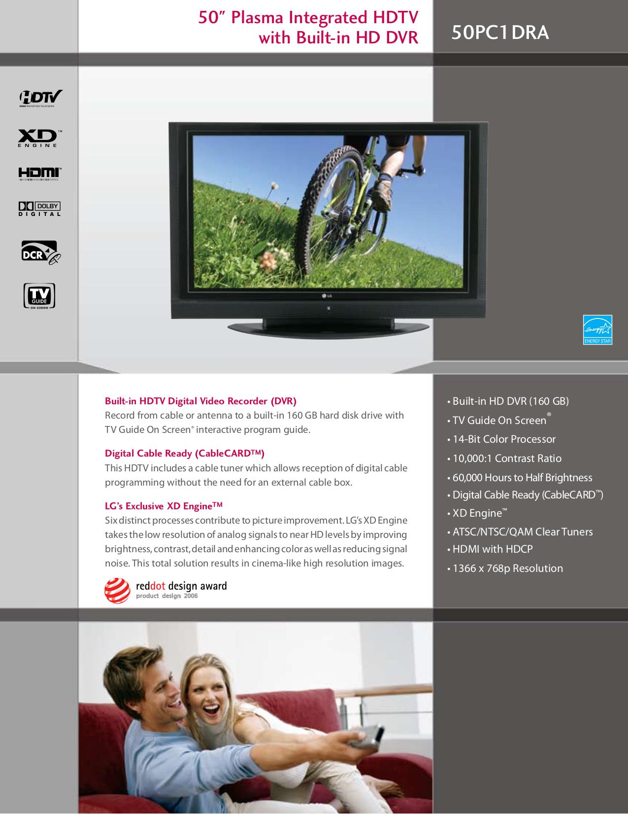 pdf for LG TV 50PC1DRA manual