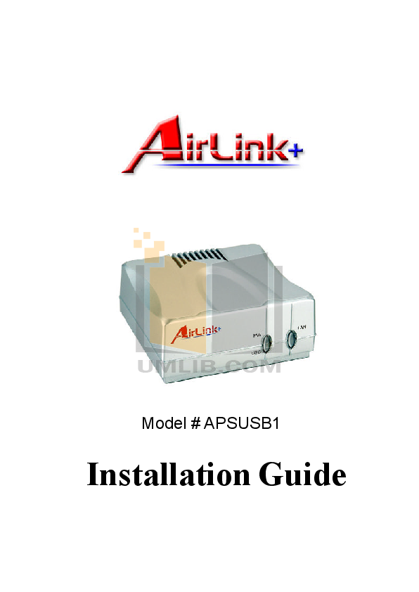 pdf for Airlink Other APSUSB1 Servers manual