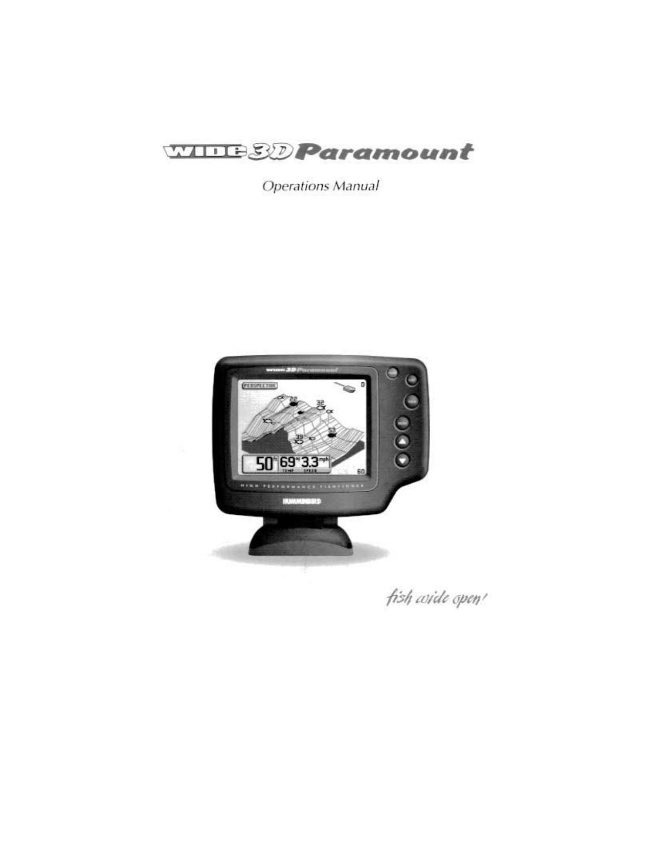 pdf for Humminbird GPS Wide 3D Paramount manual