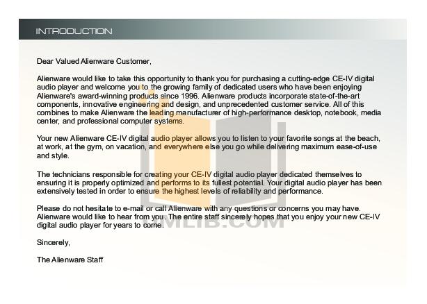 Alienware Desktop CE-IV pdf page preview