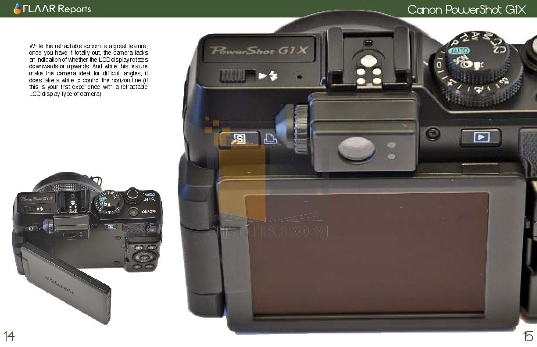 Canon Digital Camera Powershot G1X pdf page preview