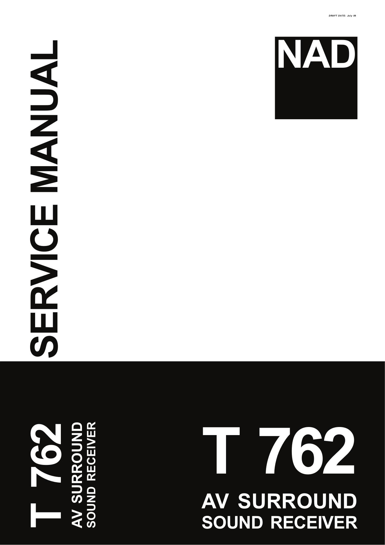 download free pdf for nad t762 receiver manual rh umlib com