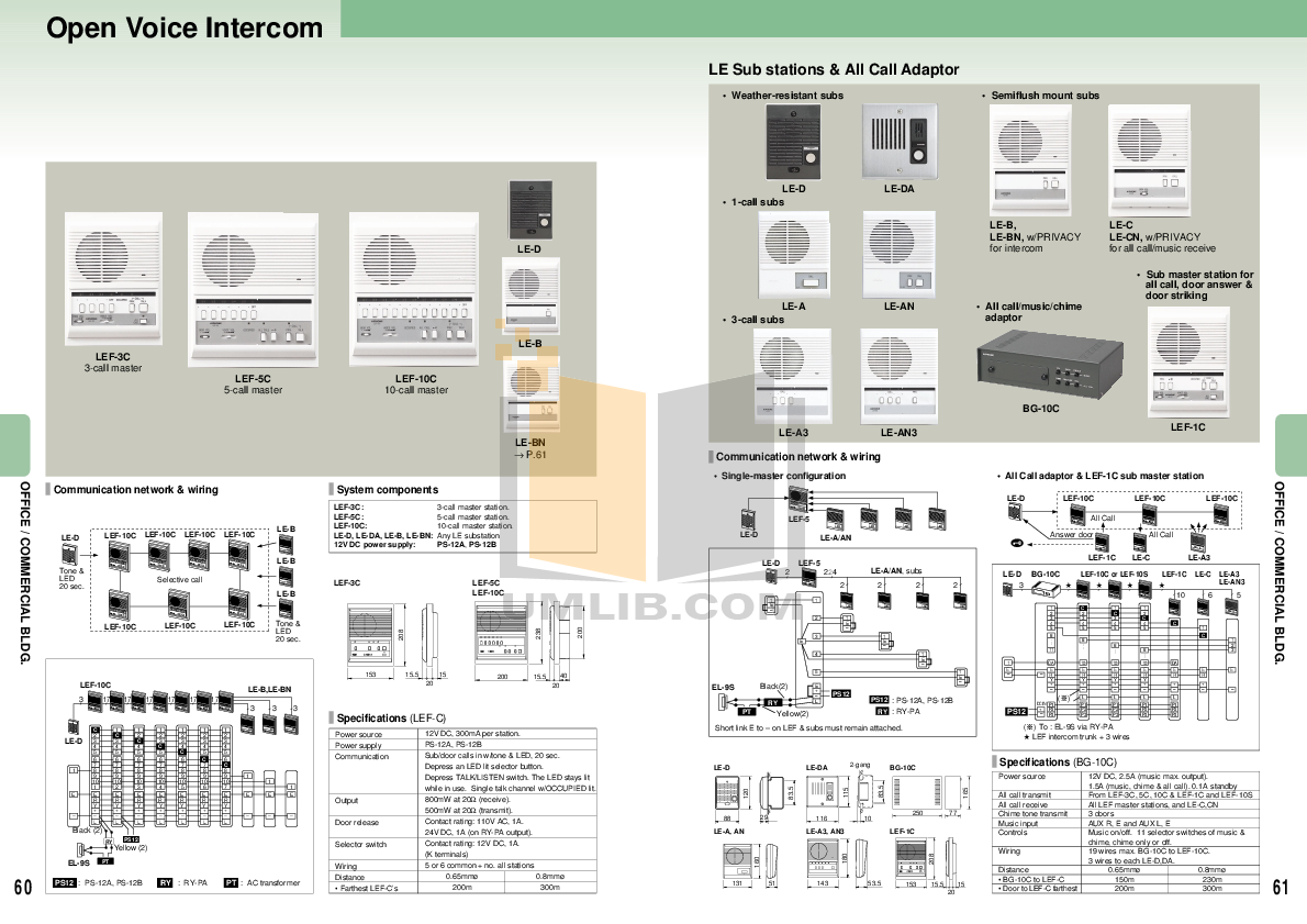 manual  aiphone  lef  intercoms