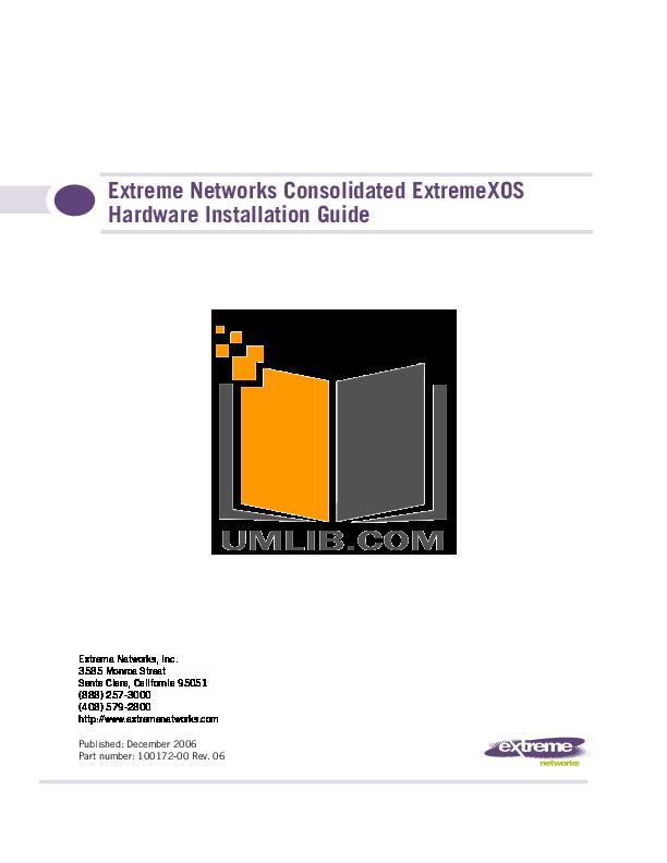 pdf for Extreme Switch Summit Summit1i manual