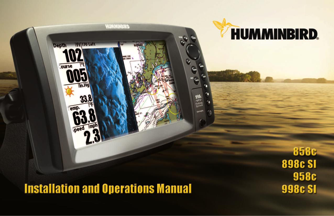 pdf for Humminbird GPS Wide One Hundred manual