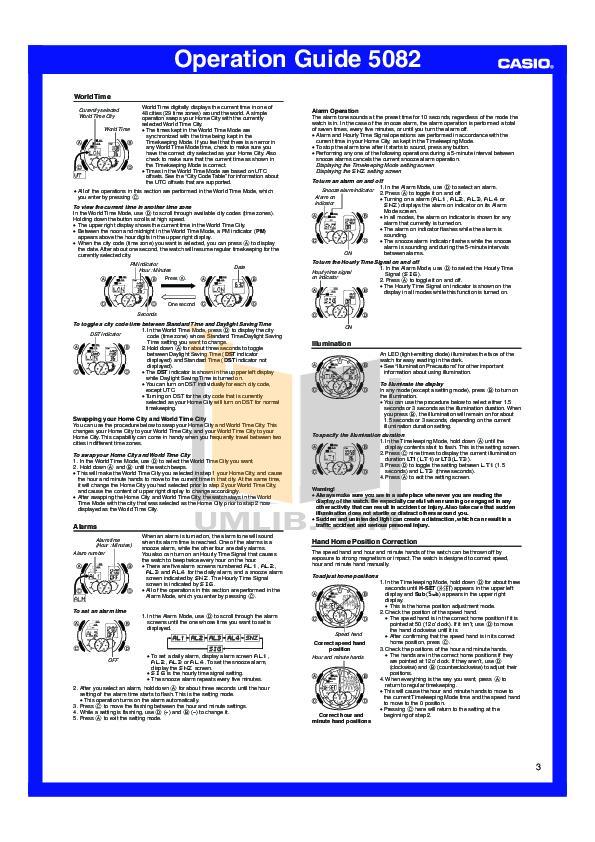 pdf manual for casio watch aq190wd 1a rh umlib com casio 5082 aq-190w manual español casio g shock 5082 manual