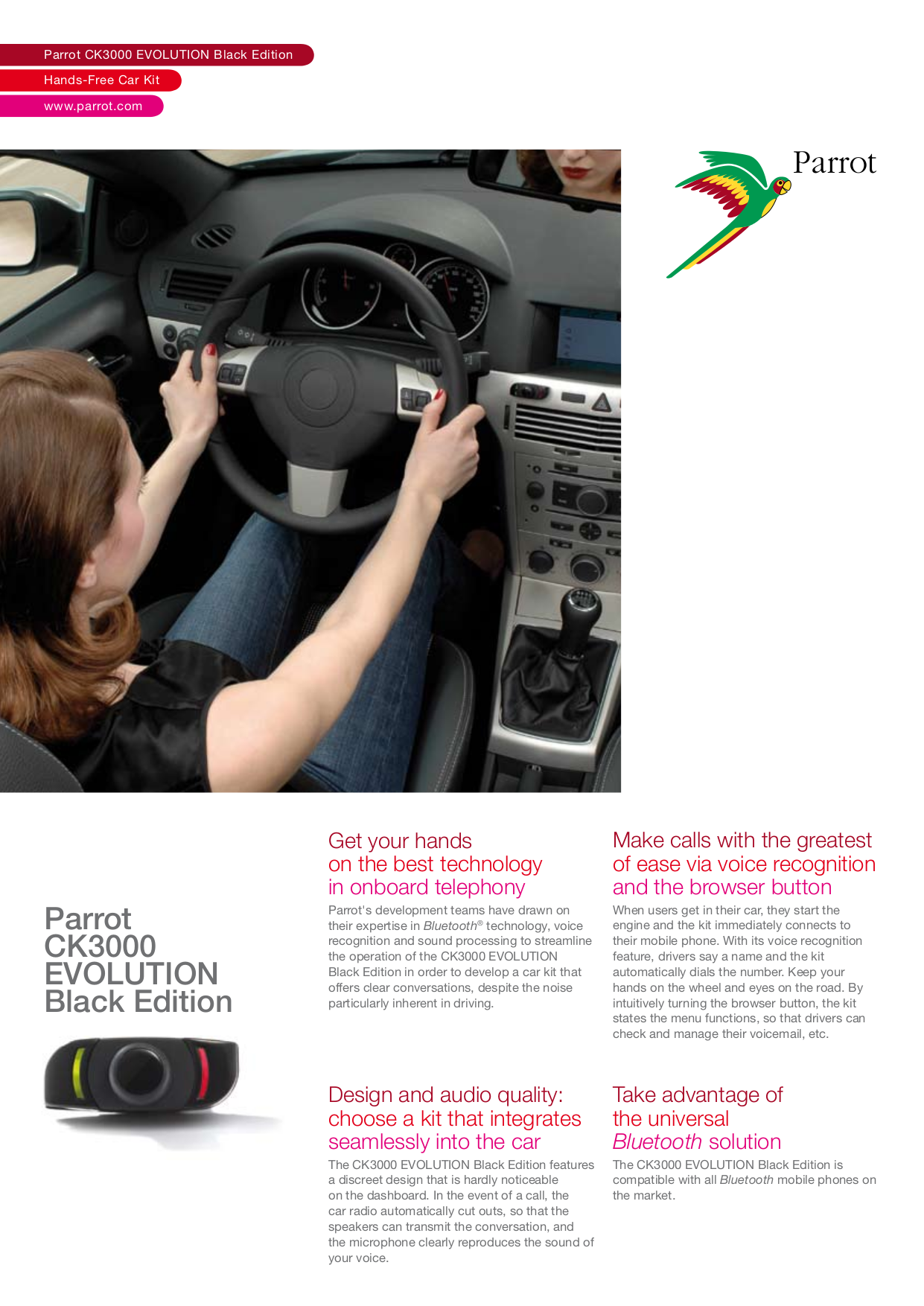 Download Free Pdf For Parrot Ck3000 Hand Free Kit Other Manual