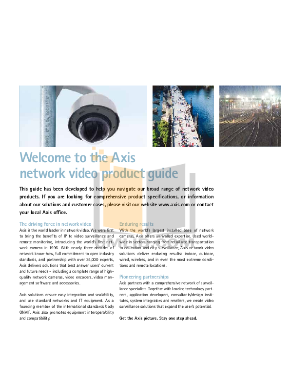 Axis Security Camera M3113-R pdf page preview