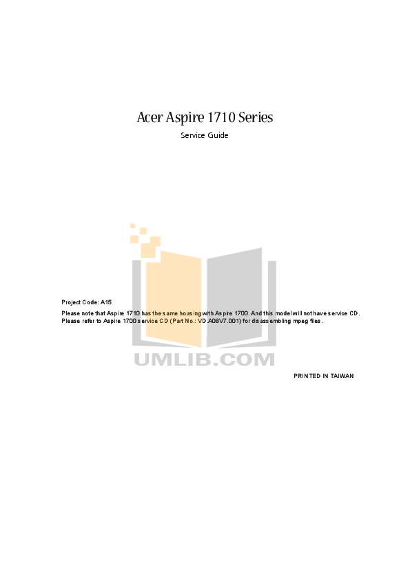 Acer Desktop Aspire Z3101 pdf page preview
