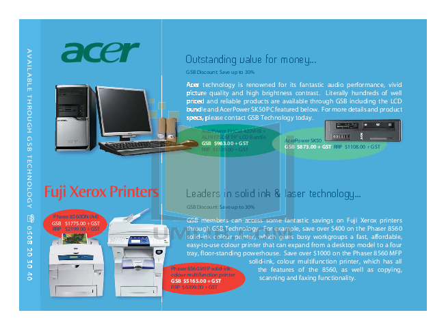 Acer Desktop AcerPower FH pdf page preview