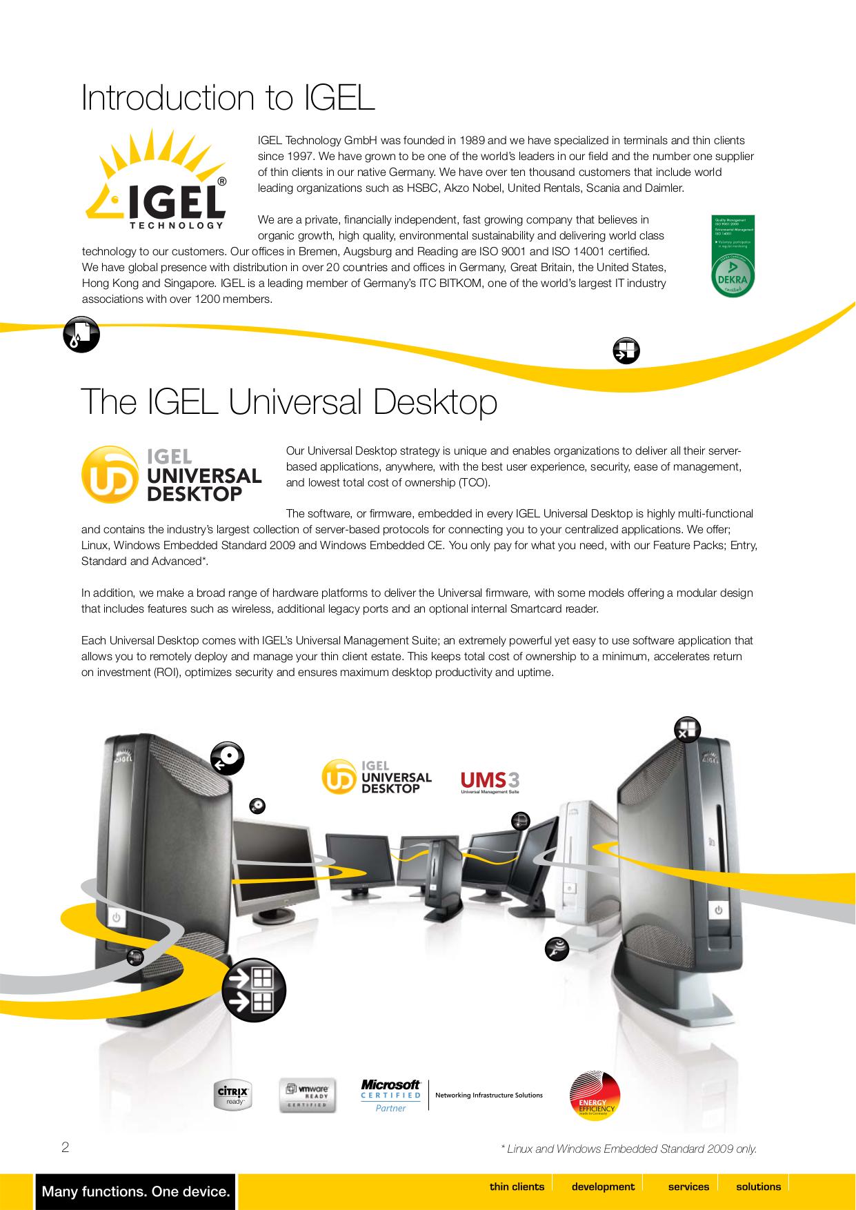 PDF manual for Igel Desktop UD9
