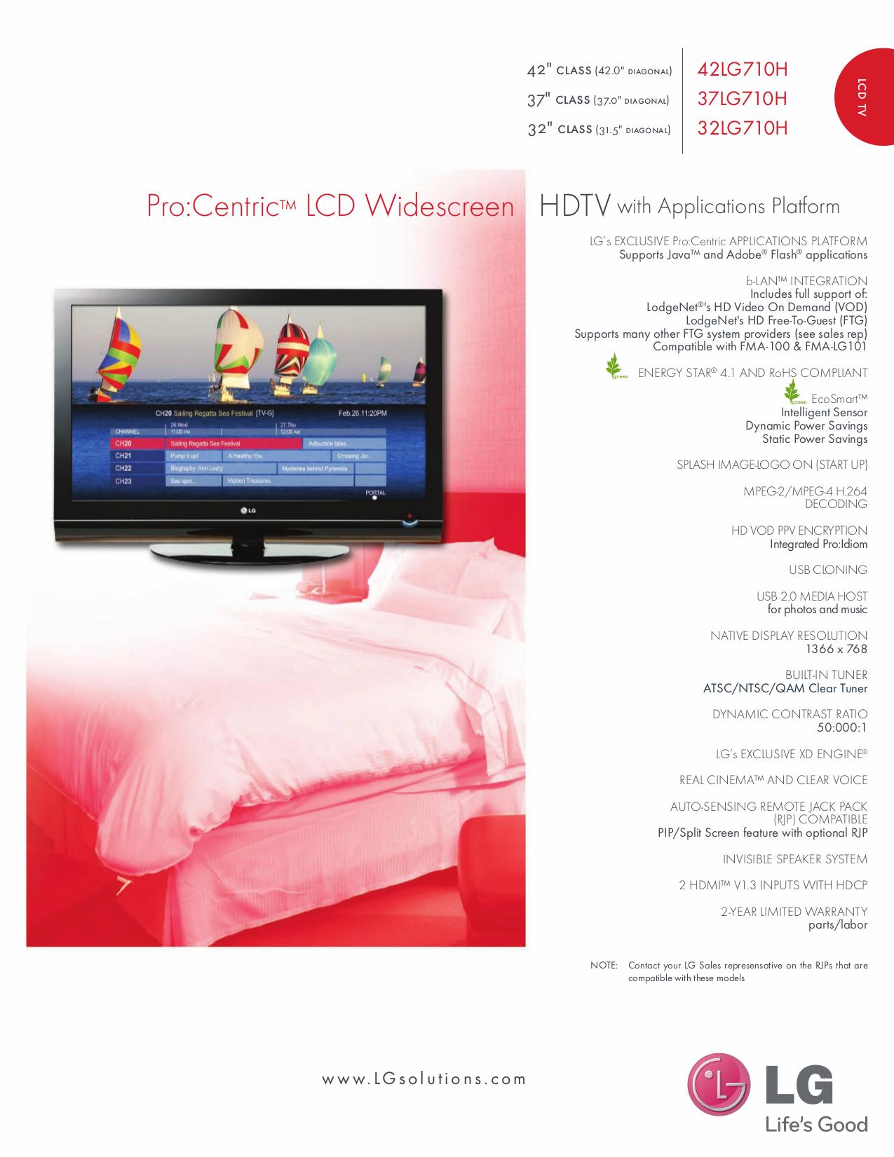 pdf for LG TV 37LG710H manual