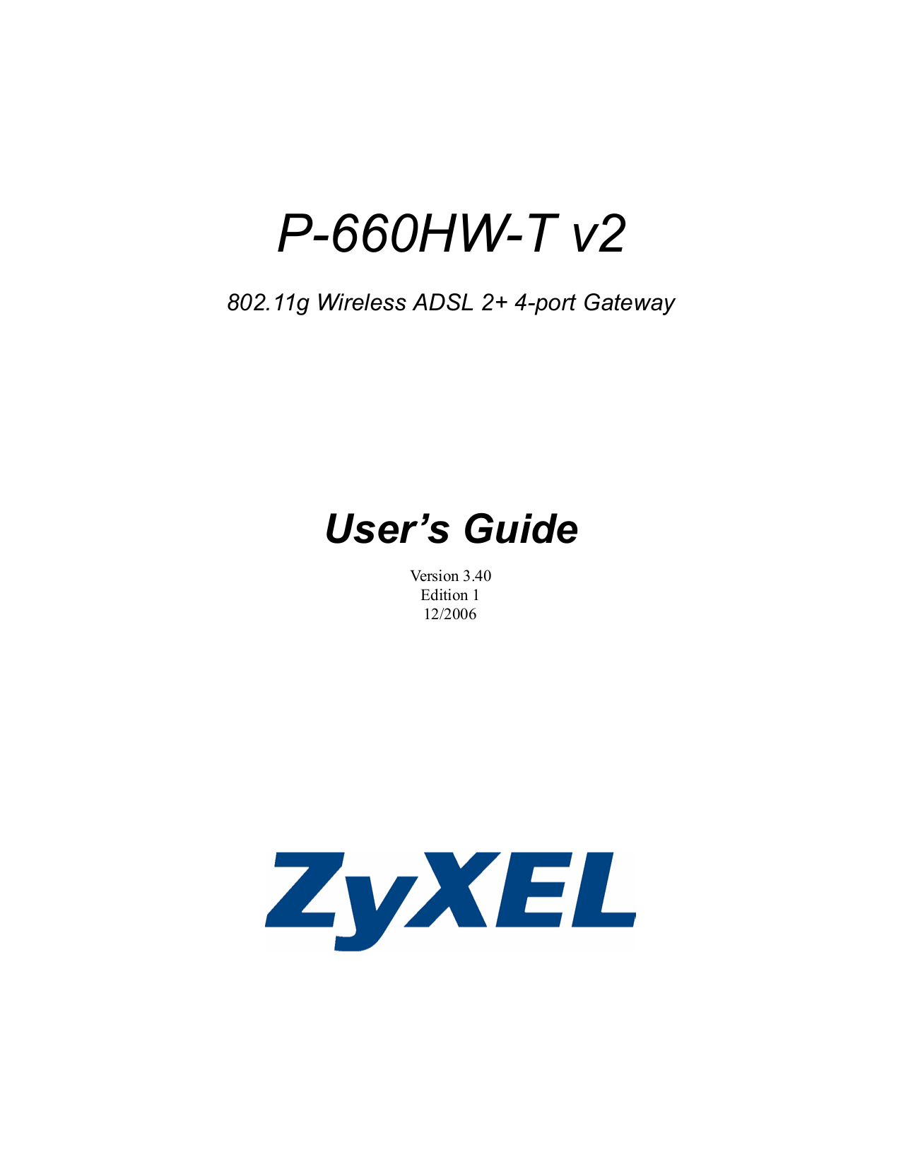 pdf for Zyxel Other P-660H-T3 Gateways manual