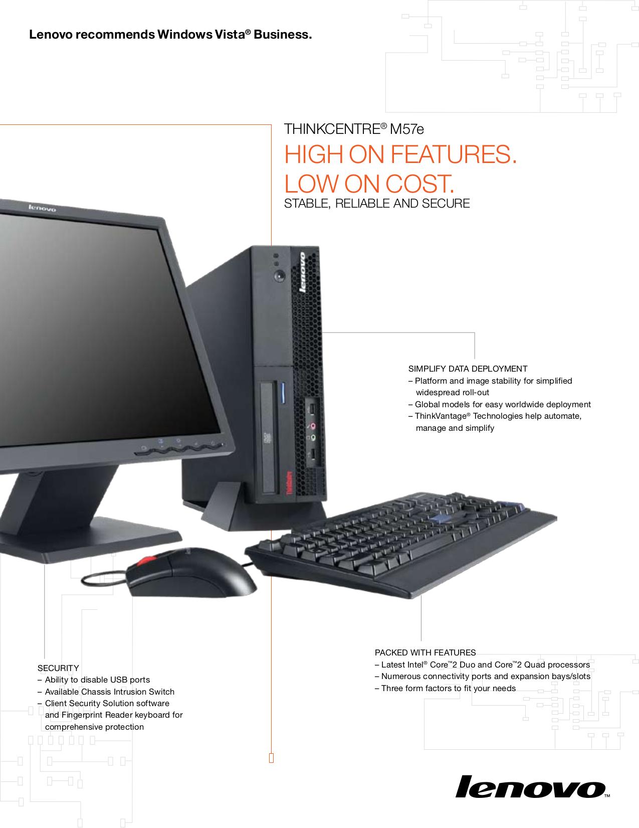 pdf for Lenovo Desktop ThinkCentre M57e 9482 manual