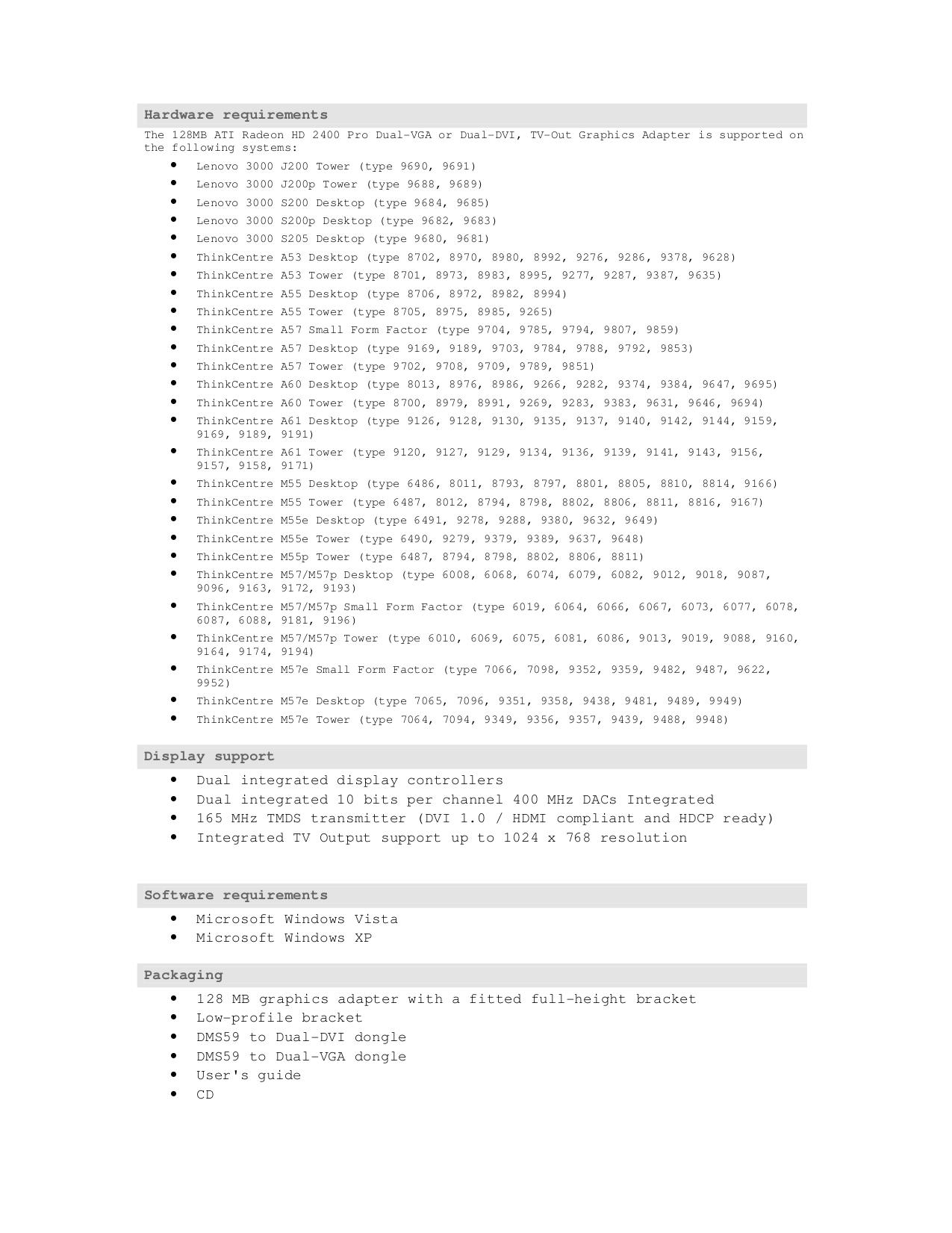Lenovo Desktop ThinkCentre M57e 9482 pdf page preview