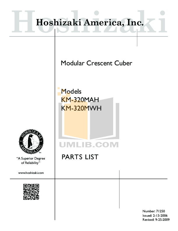 pdf for Hoshizaki Other KM-320MWH Cuber Machines manual
