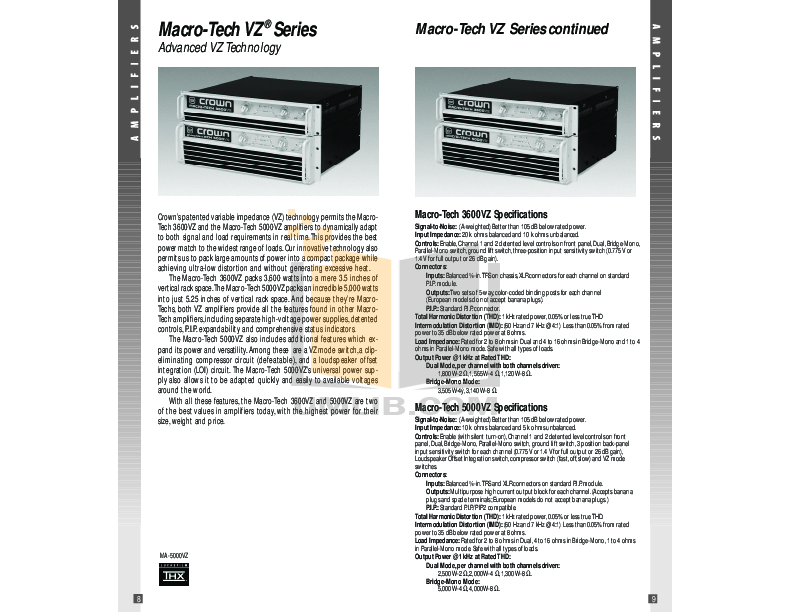 Crown Other PIP-BP1C Input Processors pdf page preview