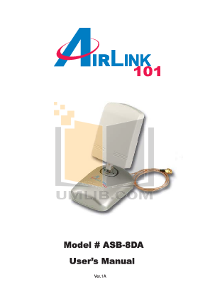 pdf for Airlink Other ASB-8DA Antenna manual
