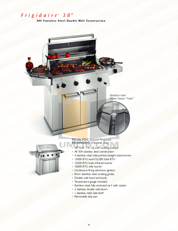Frigidaire Grill FD26NGDC pdf page preview