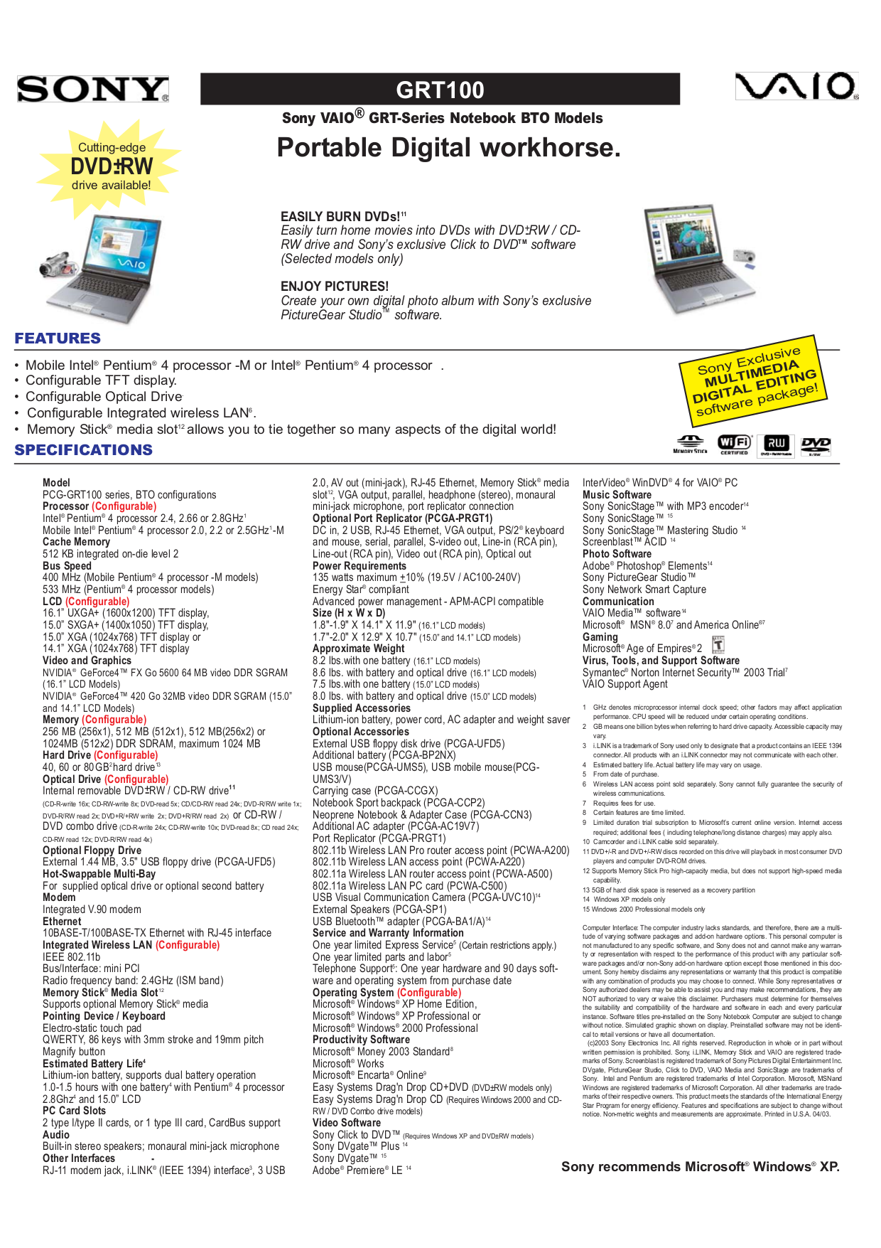 pdf for Sony Wireless Router PCWA-A220 manual