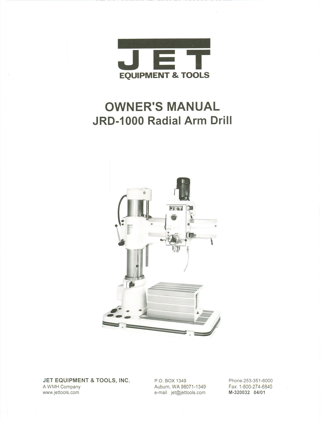 pdf for Jet Other JRD-1000 Drill Press manual