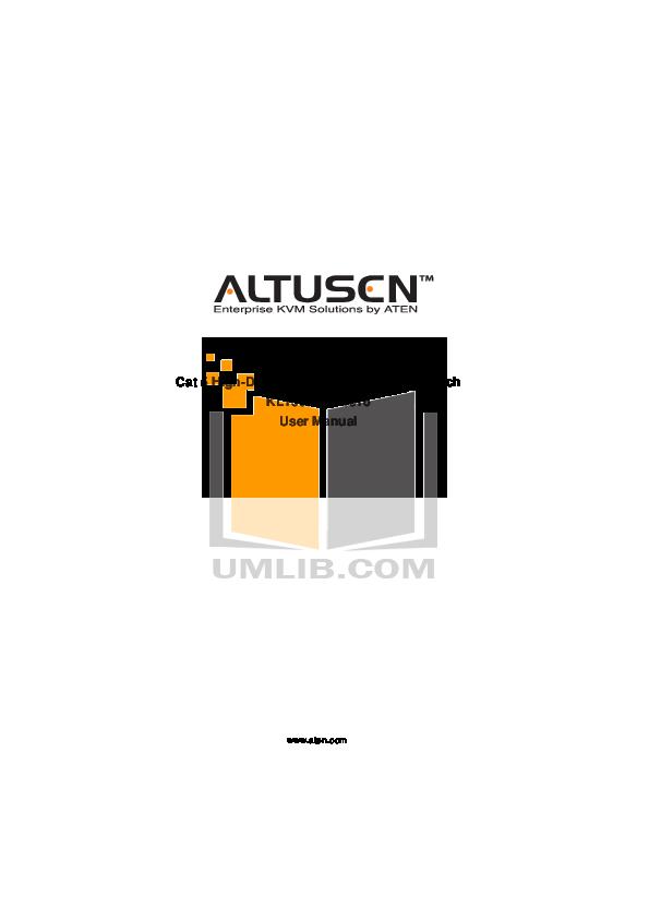 pdf for ATEN Other Altusen KH-1508 KVM Switch manual