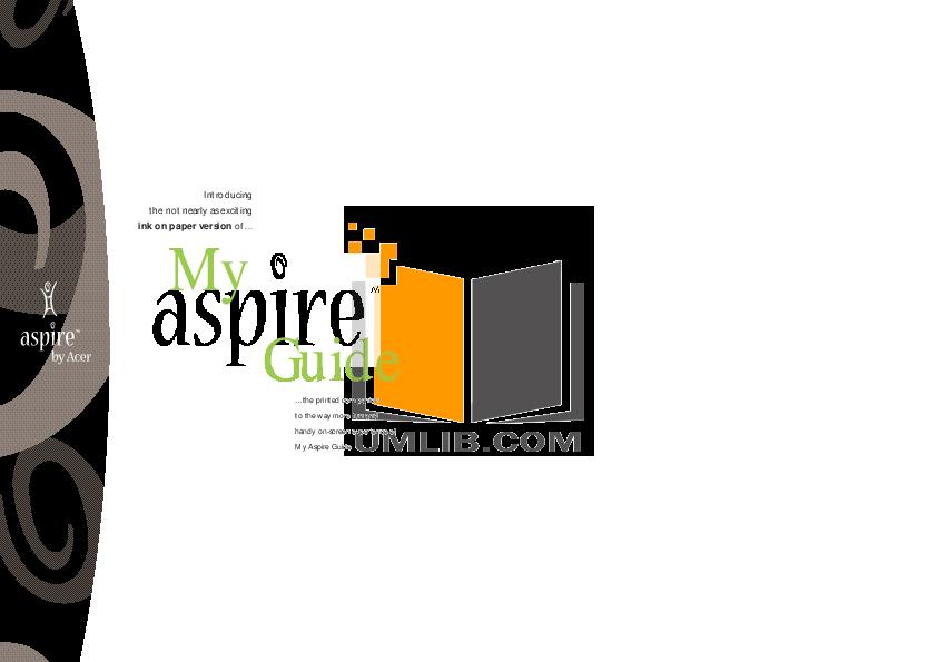 pdf for Acer Desktop Aspire 6200 manual