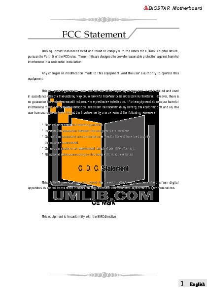 pdf for Biostar Desktop iDEQ 200T manual
