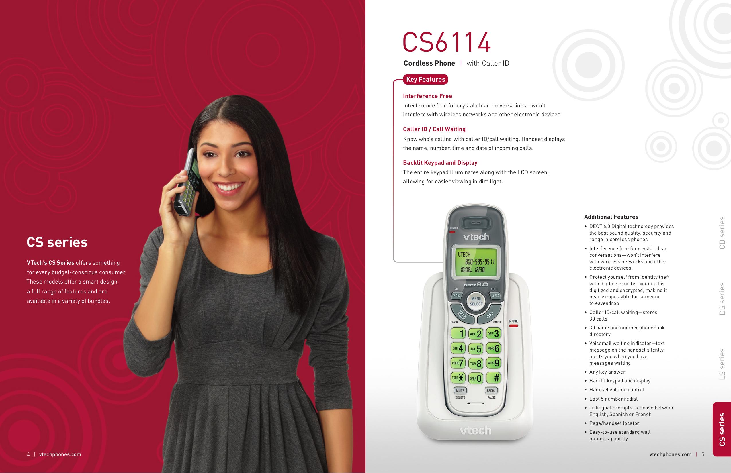 pdf for Vtech Telephone CS6419 manual