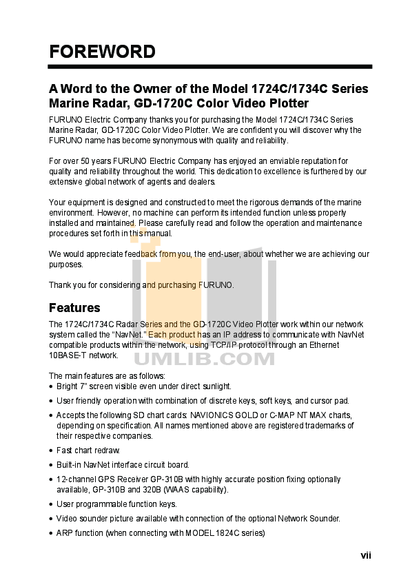 PDF manual for Furuno Other 1734C Marine Radar