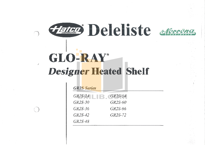 pdf for Hatco Other GR2S-24 manual