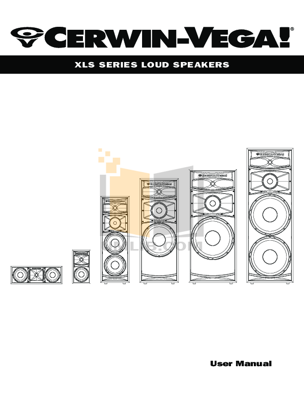 pdf for Cerwin-Vega Subwoofer V-10S manual