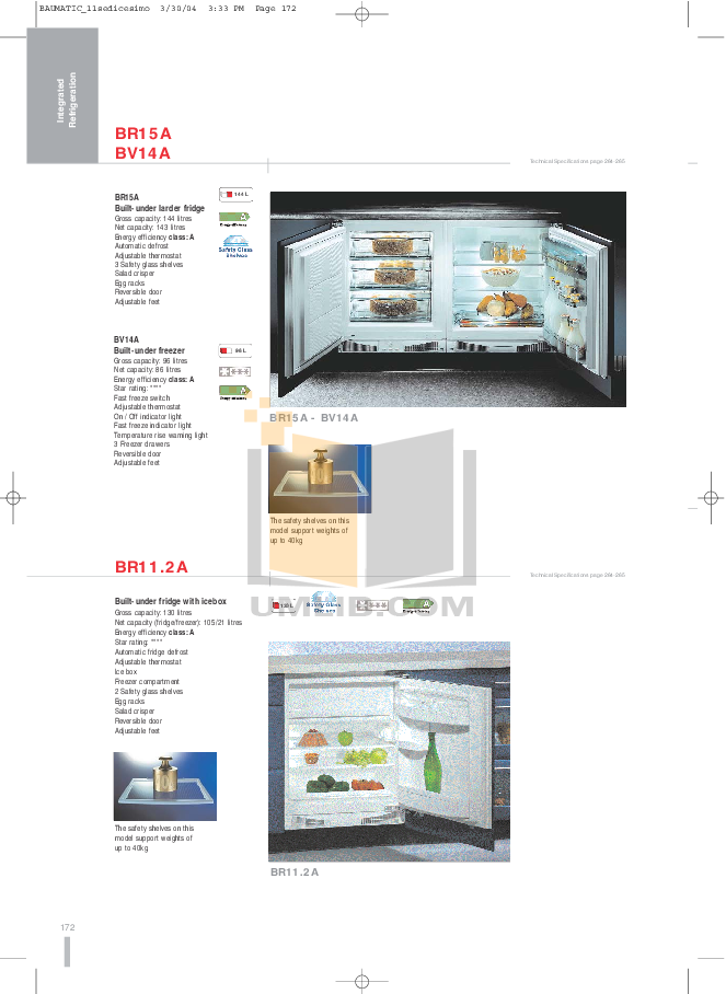 pdf for Baumatic Freezer BR15A manual