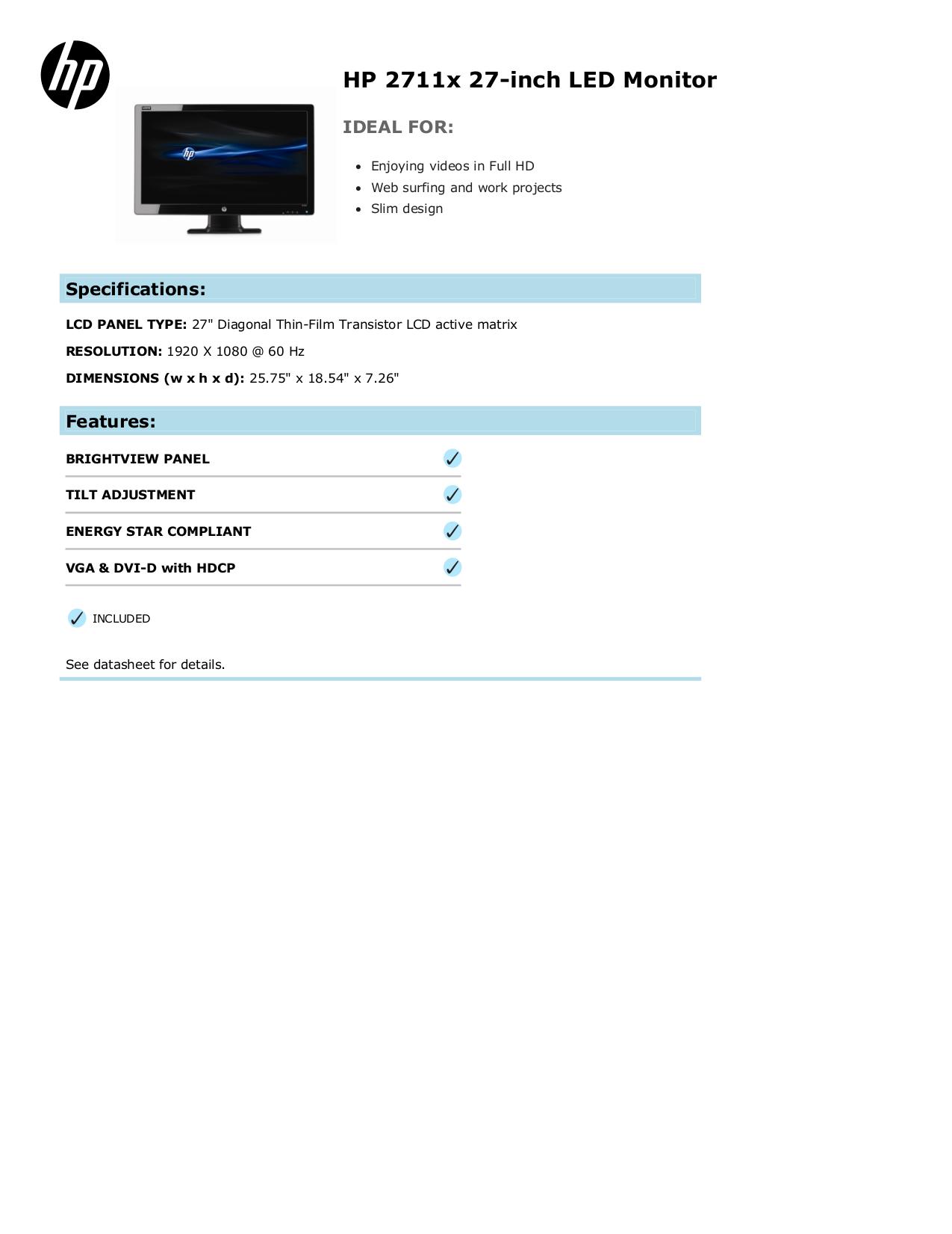 download free pdf for hp 2711x monitor manual rh umlib com hp 2711x user manual hp 2711x monitor manual