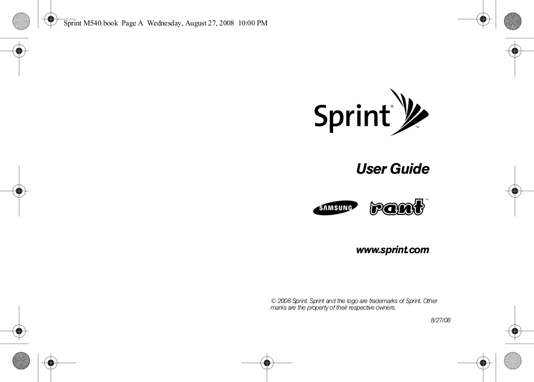 pdf for Samsung Cell Phone Rant manual