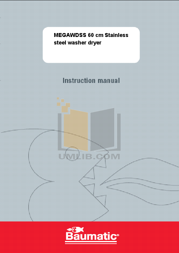 pdf for Baumatic Washer MEGAWDSS manual
